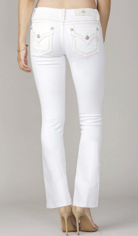 Miss Me - White Bootcut Jeans