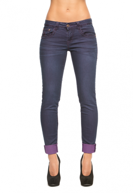 Rose Royce - Colette Skinny 2 Tone Purple