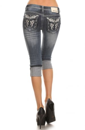 Denim Couture - Angel Wing Capris