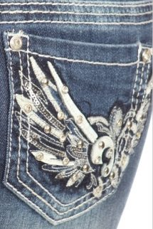 Denim Couture - Winged Capris
